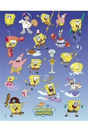 Spongebob Kanciastoporty Bohaterowie - plakat