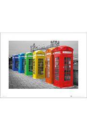 London Phoneboxes Colour - art print