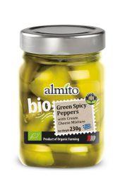 Papryczki Zielone Pikantne Z Serem Bio 230 G - Almito
