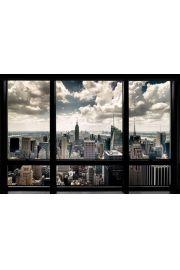 Nowy Jork - Widok przez Okno - plakat