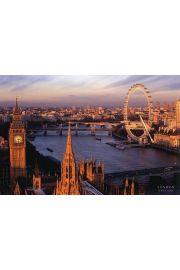 Londyn Panorama London Eye i Big Ben - plakat