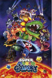 Nintendo Wii Super Mario Galaxy - plakat