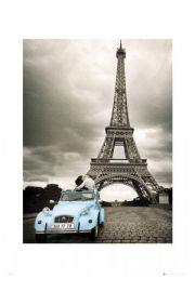 Zakochany Paryż Paris romance - reprodukcja