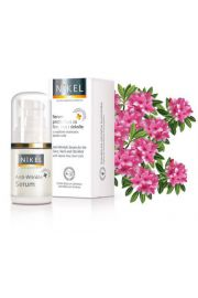 NIKEL, Przeciwzmarszczkowe serum twarz, szyja, dekolt, z komórkami macierzystymi z róży alpejskiej, 15ml