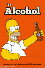 The Simpsons - homer to alcohol - plakat