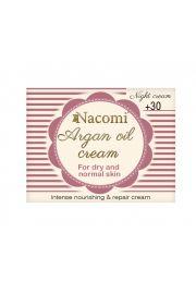 Krem arganowy z kwasem hialuronowym 30+ na noc NACOMI