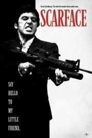 Cz�owiek z Blizn� - Scarface Say Hello To My Little Friend - plakat