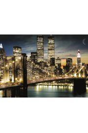 Nowy Jork �wiat�a Manhattanu - plakat