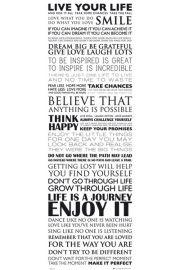 Żyj Własnym Życiem - Live Your Life - plakat motywacyjny