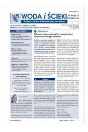 Woda i �cieki. Prawny serwis informacyjno-doradczy. Nr 10/2014