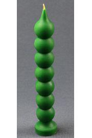 Świeca siedem węzłów zielona z wosku