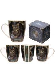 Kubek z porcelany z grafiką Lisy Parker: Kot