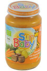 4 Mc Marchew, Ziemniak I Wołowina Bezglutenowe Bio 190 G - Sun Baby