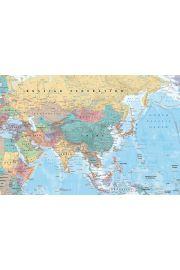 Azja i Bliski Wschód Mapa polityczna - plakat