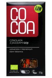 Czekolada Surowa Z Jagodami Goji Bio 50 G - Cocoa