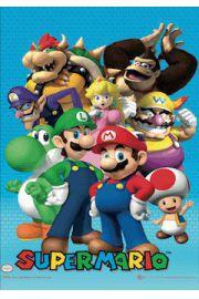 Nintendo Mario Bros - plakat 3D
