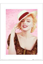 Marilyn Monroe Hat - art print
