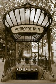 Paryż - Stacja Metra Abbesses - plakat