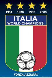 Włochy Mistrzowie Świata - Piłka Nożna - plakat