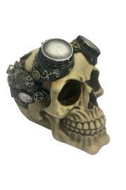 Steam-punkowa czaszka w goglach
