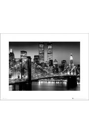 New York Manhattan Black - art print