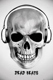 Martwe Bity - Czaszka w Słuchawkach - plakat