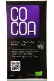 Czekolada Surowa Wi�nia-Acai Bio 50 G - Cocoa