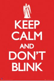 Doctor Who Keep Calm Don't Blink - plakat