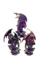 Smok Dark Legends, geoda z kryształami LED