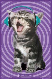 Kociak w Słuchawkach Keith Kimberlin - plakat