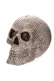 Skarbonka w kształcie czaszki wysadzana kamieniami
