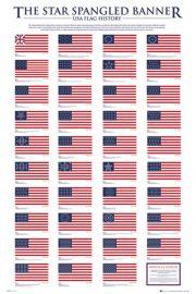 Historia Flagi USA - plakat
