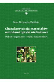 Charakteryzacja materiałów metodami optyki nieliniowej. Wybrane zagadnienia - efekty trzeciorzędowe