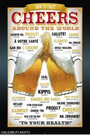 Piwo - Na Zdrowie w Różnych Językach - plakat
