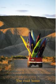 Australia - Droga do Domu - Deski Surfingowe - plakat