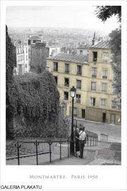 Paryż Montmartre - Zakochani - plakat