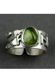 Pierścień obfitości FEHU z oliwinem nr. 14-15