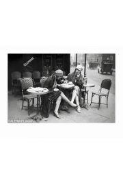 Kawiarnia w Paryżu Jeunes Femmes - reprodukcja