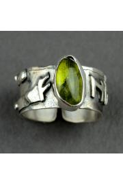 Pierścień obfitośći FEHU z oliwinem nr. 19-20