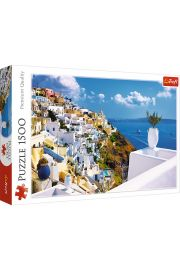 Puzzle 1500 Santorini, Grecja TREFL