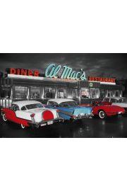 Nowy Jork - Cadillac - AL MACS DINER - plakat