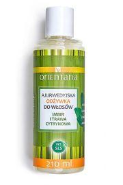 Orientana, Ajurwedyjska odżywka DO WŁOSÓW Imbir i Trawa Cytrynowa, 210ml