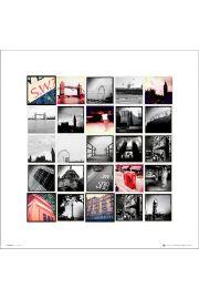 London Landmark Collage - art print