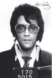 Elvis Presley Vintage Mugshot - plakat