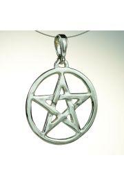 Pentagram ażurowy, srebro