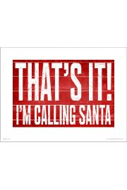 Calling Santa - art print