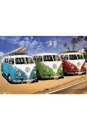 Volkswagen Californian Camper - Kampery na Plaży - plakat
