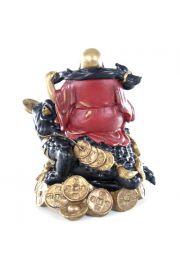 Budda z żabą przynoszącą pieniądze i toelem