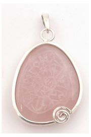 Mandala runiczna na kwarcu różowym