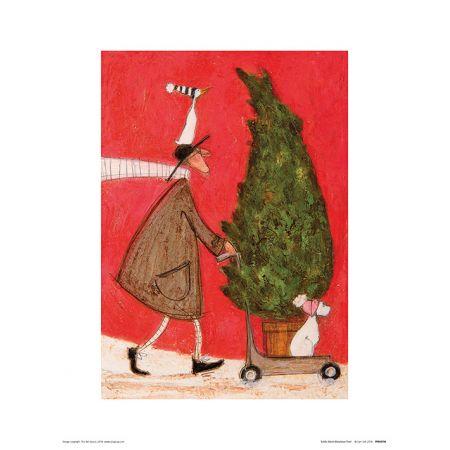 Sam Toft Little Silent Christmas Tree Plakat Premium